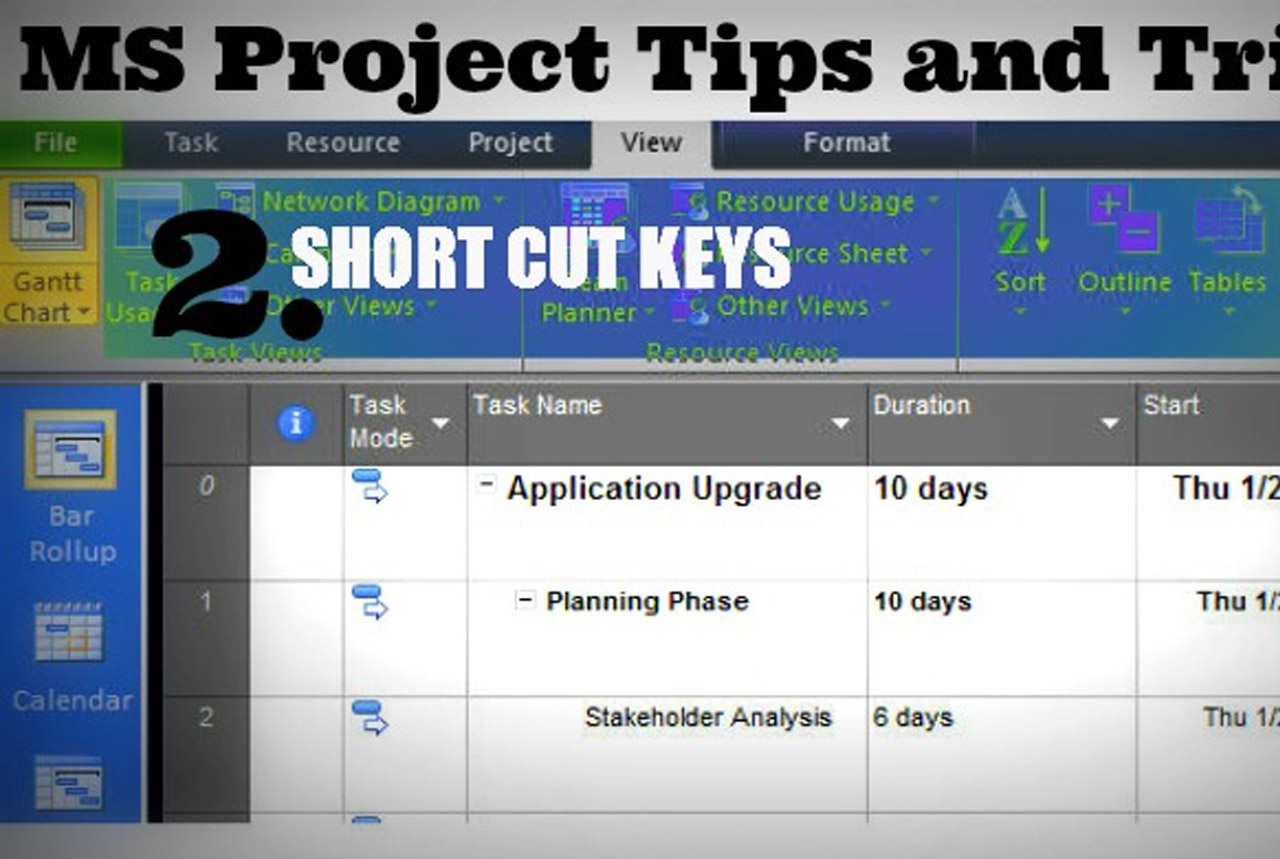 MS Project Tips And Tricks 2